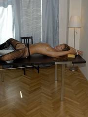 Nylon stockings. Jennifer in ripped open - Unique Bondage - Pic 10