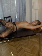 Nylon stockings. Jennifer in ripped open - Unique Bondage - Pic 11