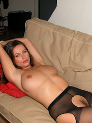Nylon porn. Kyla tied in crotchless - Unique Bondage - Pic 21