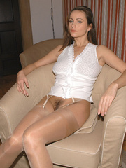 Sexy stockings. Girls tied at home. - Unique Bondage - Pic 1