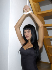 Pantyhose feet. Sarah in ripped open - Unique Bondage - Pic 12