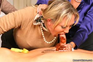 Cfnm pure. 3 smoking hot big tits blonde - XXX Dessert - Picture 7