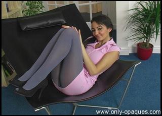 stocking porn amazing brunette