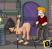 Lovely cartoon beauties get mouth fucked while in tough bondage.