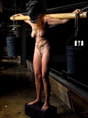 Bondage sex. Slave Slut Sabrina Fox Trained - Unique Bondage - Pic 1