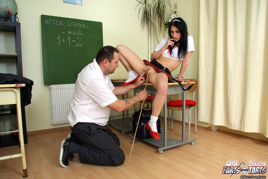 Sexy Teacher Seduces Student