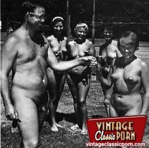 Hairy gallery. Vintage nudist going full - XXX Dessert - Picture 1