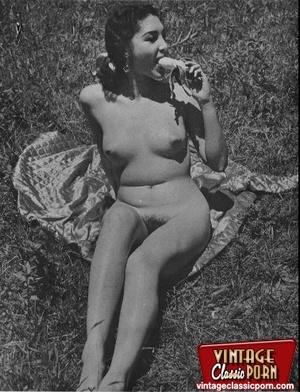 Hairy gallery. Vintage nudist going full - XXX Dessert - Picture 2