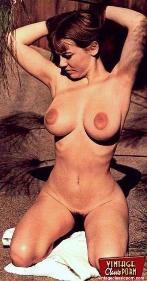 Vintage classic porn. Big boobed Michell - XXX Dessert - Picture 1