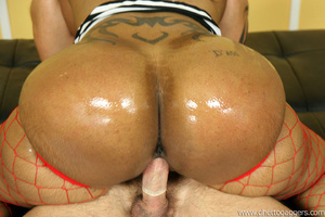Huge cumshot. Cherokee gets her big ass  - XXX Dessert - Picture 12