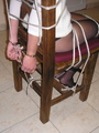 Bondage. Beauty gets bound to her chair. - Picture 4