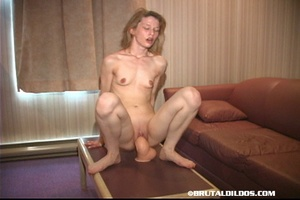 Porn fisting. Chick Squats On A Table Wi - XXX Dessert - Picture 13