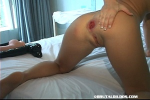 Extreme fisting. Thick Black Dildo In Th - XXX Dessert - Picture 15