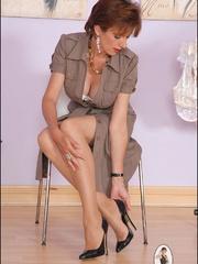 Sexy panty hose. Sonia shows off her legs. - Unique Bondage - Pic 2