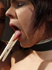 Sex slave. Ginna and Kathia Nobili in a - Unique Bondage - Pic 4
