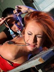 Bondage sex. Watch Mandy Bright as she - Unique Bondage - Pic 6