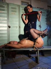 Bondage sex. Watch Mandy Bright as she - Unique Bondage - Pic 7