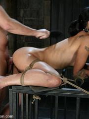 Rough hard sex. Dana is fucked in the ass - Unique Bondage - Pic 12