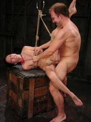 Roughsex. Submissive Veronica Jett is bound, - Unique Bondage - Pic 13