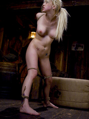 Slaves being fucked hard. Blonde hottie in - Unique Bondage - Pic 4