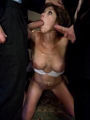 Rough sex porn. Felony tied up and double - Unique Bondage - Pic 5