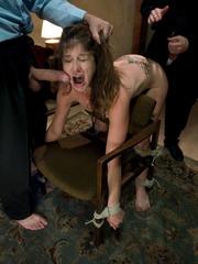 Rough sex porn. Felony tied up and double - Unique Bondage - Pic 7