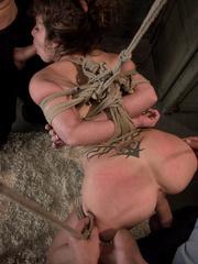 Rough sex porn. Felony tied up and double - Unique Bondage - Pic 9