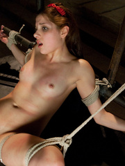 Bdsm sex. Beautiful girl in forbidden - Unique Bondage - Pic 12