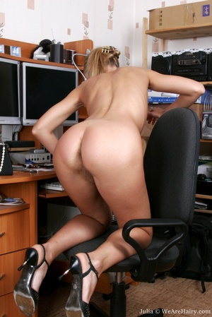 Horny hairy. Join in Julia's office anti - XXX Dessert - Picture 12