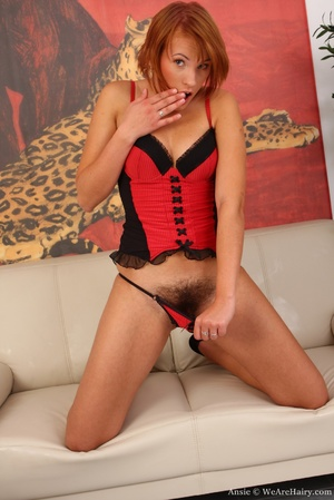 Hairy beauty. Beautiful Ansie slips into - XXX Dessert - Picture 3