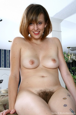 Hairy vagina. Sasha is at her natural be - XXX Dessert - Picture 12