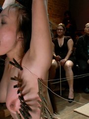 Slave girls. Hot Asian babe with big tits is - Unique Bondage - Pic 10