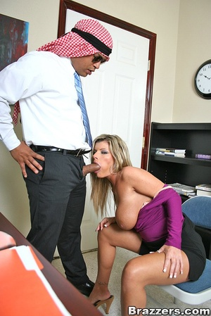 Office porn. Hot and horny chick fucks a - XXX Dessert - Picture 5
