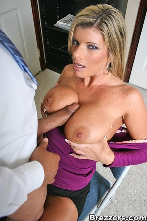 Office porn. Hot and horny chick fucks a - XXX Dessert - Picture 7