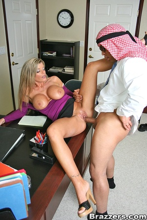 Office porn. Hot and horny chick fucks a - XXX Dessert - Picture 9
