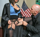 Horny secretary. Judge West gets fucked by a counsellor whos wants justice