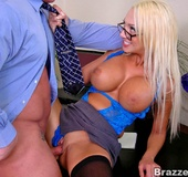 Office xxx. As a busty employer Dona Doll wants to fuck her bad employees.