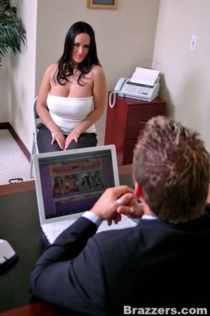 Secretary porn. 2 busty secretary Carmel - XXX Dessert - Picture 4