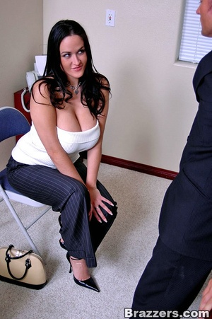 Secretary porn. 2 busty secretary Carmel - XXX Dessert - Picture 5