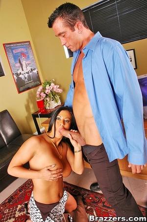 Horny secretary. Big boobs brunette secr - XXX Dessert - Picture 10