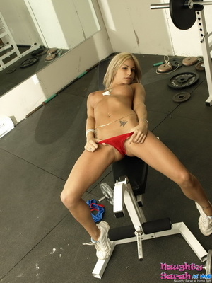 Blond xxx. Sarah is one horny little nas - XXX Dessert - Picture 8