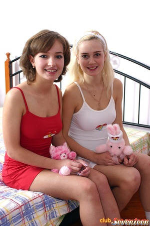 Girls sex. Two teenagers showing their p - XXX Dessert - Picture 1