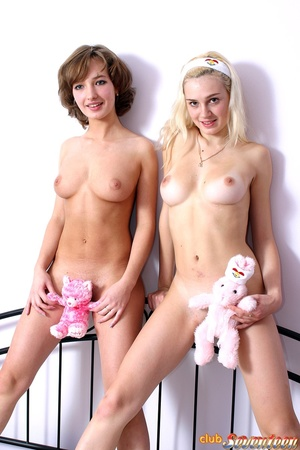 Girls sex. Two teenagers showing their p - XXX Dessert - Picture 6