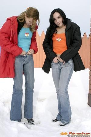 Hot lesbians. Dildo loving teenies toyin - XXX Dessert - Picture 2