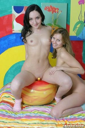 Hot lesbians. Dildo loving teenies toyin - XXX Dessert - Picture 9