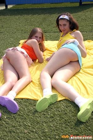 Lesbian xxx. Two sexy teenage cuties hav - XXX Dessert - Picture 1