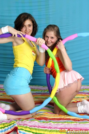 Lesbian xxx. Two sexy teenage cuties hav - XXX Dessert - Picture 5