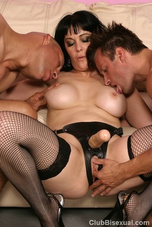 Cock sucking bisexual orgy group