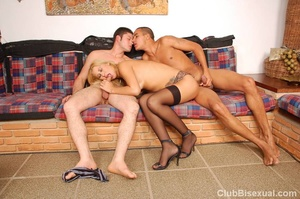 Bi sexual porn. Hot Fuck on the Couch. - XXX Dessert - Picture 3