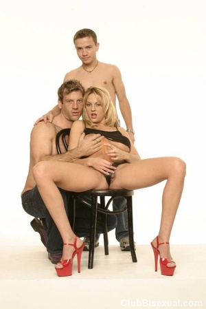Bisex. Beautifull Bi Trio with a Naughty - XXX Dessert - Picture 3